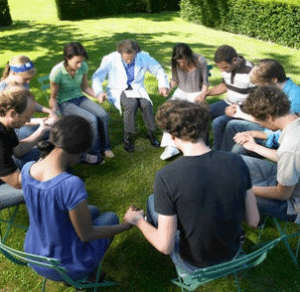 Group Counseling in a Drug and Rehab Center