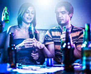 Binge drinking alcohol