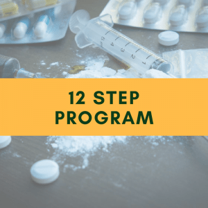 12 step program for alcohol and drug addicts in a rehab center
